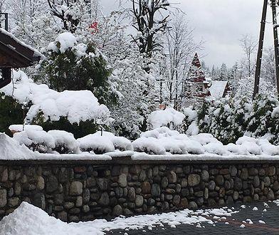 W Zakopanem jest nawet kilka cm śniegu