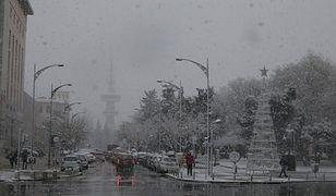Grecja: zima zaatakowała - trudne warunki w całym kraju (na zdjęciu centrum Salonik)