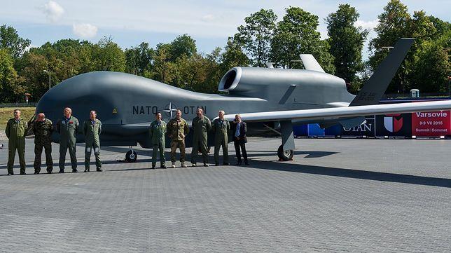 Dron MQ-4C był prezentowany w Warszawie. Maszynę tego typu strącił Iran