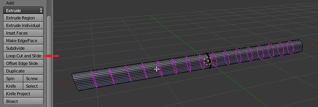 Loop Cut and Slide - plasterkowanie z przesunięciem