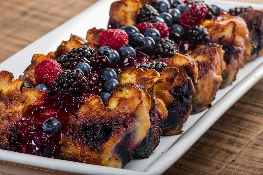 Pudding z chleba z owocami