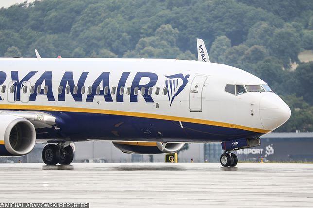 Pasażer zmarł na pokładzie samolotu Ryanair