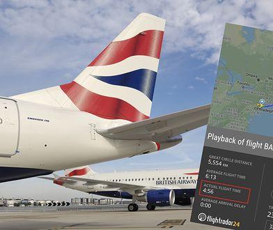 """Pogoda. Huragan """"Ciara"""" pomógł British Airways. Samolot brytyjskich linii lotniczych z rekordem trasy z Nowego Jorku."""