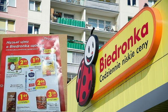 Biedronka w Polsce z gazetką po ukraińsku. Tak jest w Grójcu, ale nie tylko
