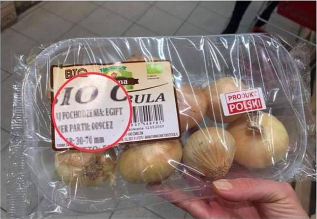 Cebula z Francji sprzedawana jest jako polska