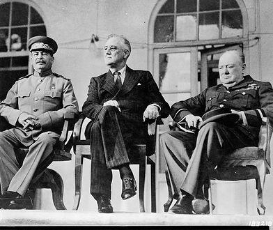 Józef Stalin, Franklin Roosevelt i Winston Churchill na konferencji w Teheranie, 28 listopada - 1 grudnia 1943 r.