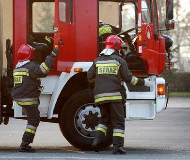 Na miejscu działało sześć zastępów straży pożarnej