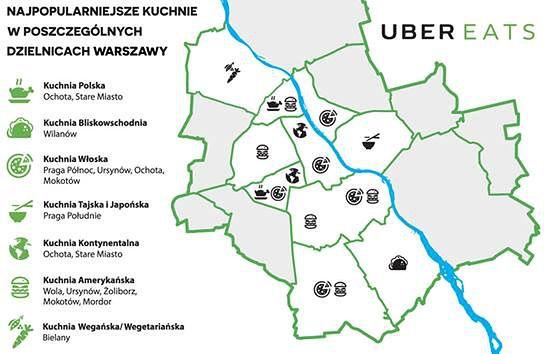 Raport Uber Eats: Co jedzą warszawiacy?