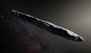 Artystyczna wizja planetoidy Oumuamua
