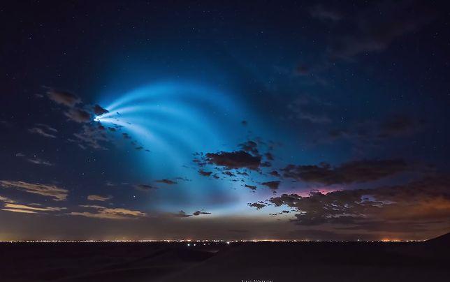 Smuga światła pojawiła się nad Kalifornią