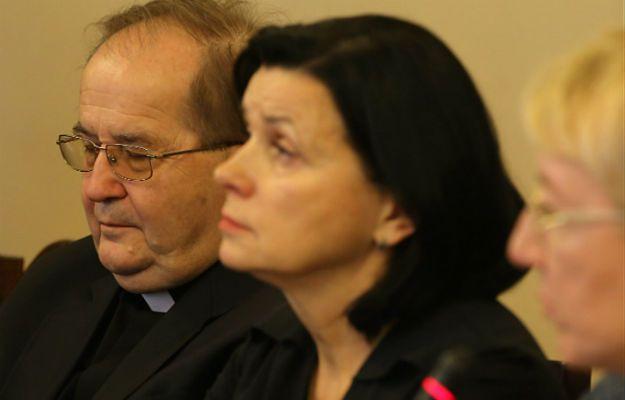 Ojciec Tadeusz Rydzyk oraz dyrektor finansowy fundacji Lux Veritatis Lidia Kochanowicz