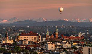 Tatry widziane z Krakowa 9 maja 2021 roku