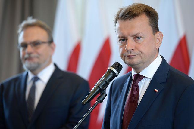 Szef MSWiA Mariusz Błaszczak.
