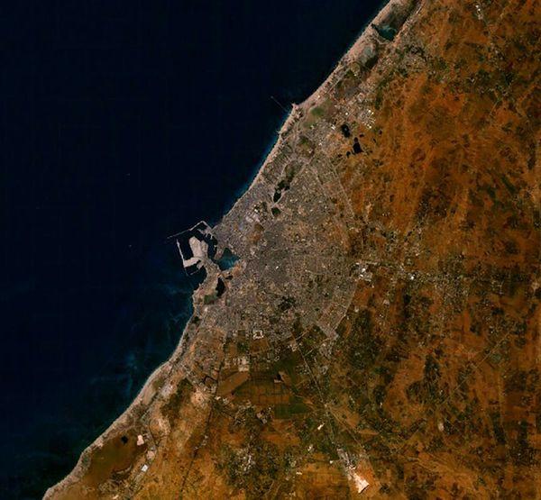 Zdjęcie satelitarne Bengazi