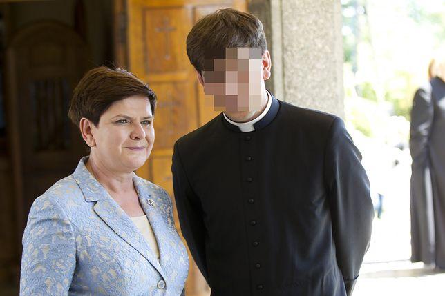 Tymoteusz Szydło z mamą Beatą