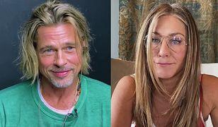 Ten flirt Brada Pitta i Jennifer Aniston przejdzie do historii. Stara miłość nie rdzewieje?