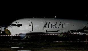 Wrak samolotu, który rozbił się w stolicy Ghany
