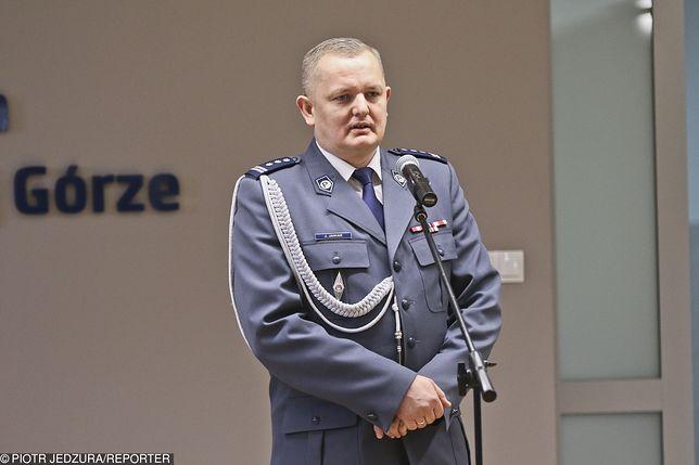 Odwołany szef lubuskiej policji Jarosław Janiak nadal pozostaje w dyspozycji komendanta głównego