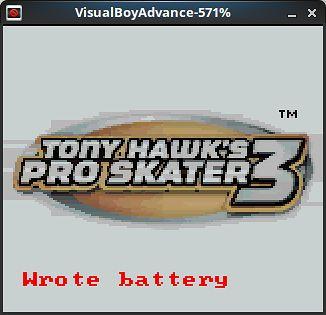 Emulator informuje, że gra właśnie radośnie dokonała zapisu... Usuwając nasze zmiany