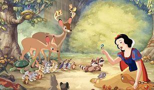 Królewna szukała ukojenia wśród leśnych zwierząt
