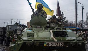Ukraińscy żołnierze w Debalcewie