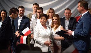 Beata Szydło na spotkaniu z mieszkańcami Kutna broniła rząd Mateusza Morawieckiego ws. protestu osób niepełnosprawnych