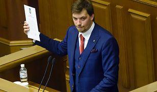 Ukraina. Premier Ołeksij Honczaruk podał się do dymisji po wycieku nagrać dotyczących Wołodymyra Zełenskiego