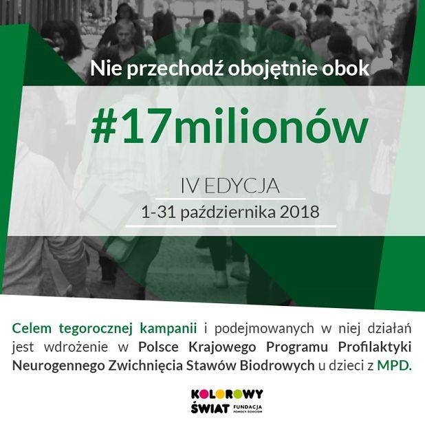 Bezpłatne badania RTG stawów biodrowych dzieci z MPD w ramach kampanii #17milionów!