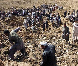Lawina błotna w Afganistanie