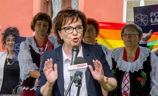 Elżbieta Witek na wiecu w Otyniu