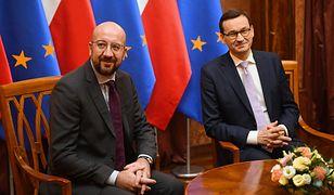 Charles Michel i Mateusz Morawiecki
