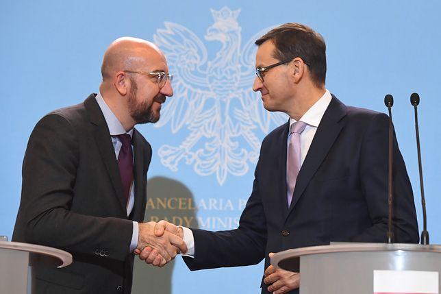 Mateusz Morawiecki i przewodniczący elekt Rady Europejskiej Charles Michela spotkali się we wtorek