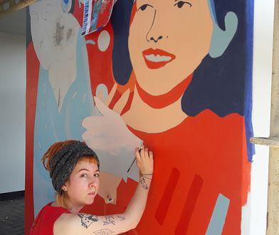 Mural jest w trakcie powstawania
