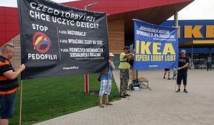 Protest pod IKEĄ w Lublinie. Chodzi o aferę ze zwolnionym pracownikiem