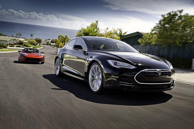 Tesla. Eksplozja samochodu na drodze zarejestrowana na wideo