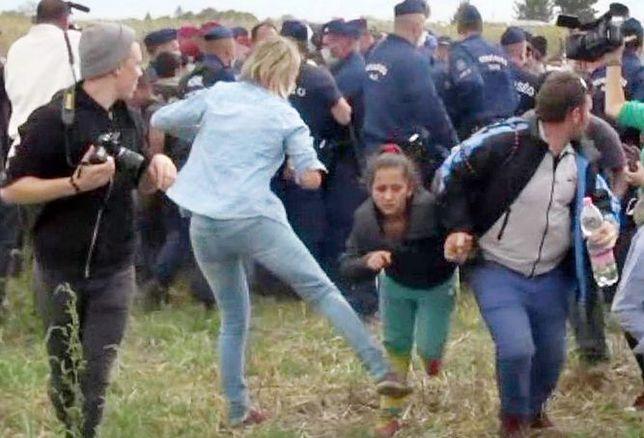 Dziennikarka z Węgier kopała uciekających migrantów. Została uniewinniona