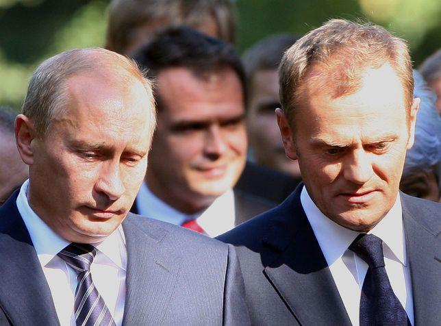 Od lewej: Władimir Putin, Donald Tusk (zdj. arch.)