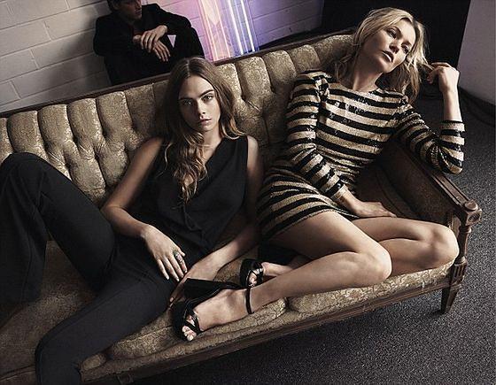 Cara Delevingne i Kate Moss w kampanii wieczorowej kolekcji Mango