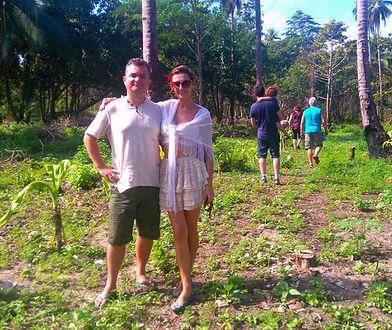 Tomasz Kosiński na wyspie jest z żoną i synkiem