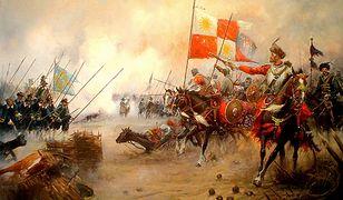 Bitwa z udziałem polskiej jazdy na obrazie Mirosława Szeiba