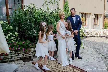 Aleksandra Woźniak z mężem Szymonem i dziećmi