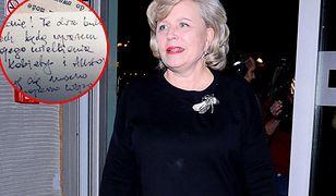 Krystyna Janda pokazała list od zmarłego męża Edwarda Kłosińskiego