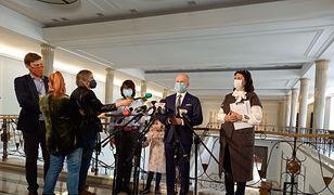 Konferencja prasowa Bartłomieja Wróblewskiego w Sejmie