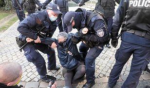 Warszawa. Protest przed Sądem Najwyższym