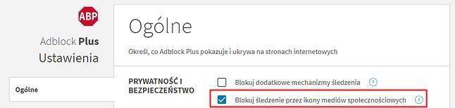 Blokowanie śledzenia przez ikony mediów społecznościowych trzeba najpierw aktywować w ustawieniach. Tutaj na przykładzie Chrome'a.