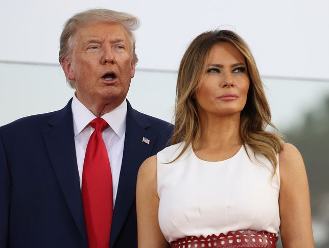 Donald Trump  z żoną Melanią Trump
