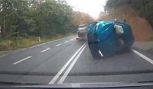Opole. Zderzenie czterech samochodów. Szokujące nagranie