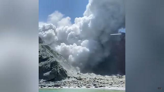 Wybuch wulkany na wyspie White