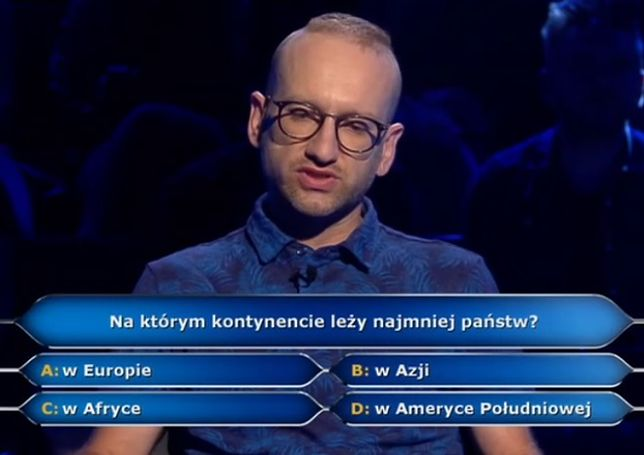 """Uczestnik """"Milionerów"""" zyskał sympatię widzów"""