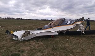 Wypadek na lotnisku w Gliwicach. Rozbiła się awionetka